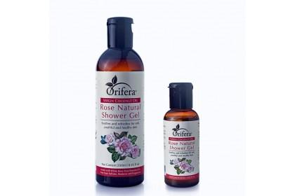 Virgin Coconut Oil Rose Natural Shower Gel
